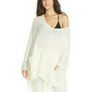 FREE PEOPLE soft alpaca oversized ribbed Vneck